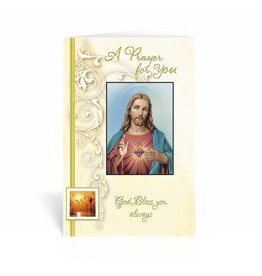 "WJ Hirten ""A Prayer For You, God Bless You Always"" Saced Heart Get Well Soon Card"