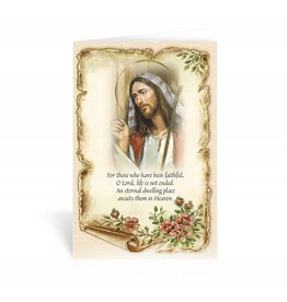 "WJ Hirten ""For those who have been faithful..."" Good Shepherd Sympathy Card"