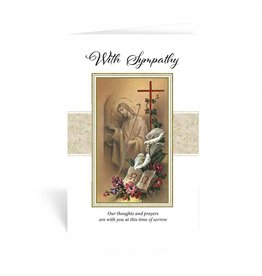 "WJ Hirten ""With Simpathy, Our thoughts and prayers are with you at this time of sorrow"" Sympathy Card"