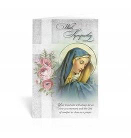 "WJ Hirten ""With Sympathy, Your loved one will always by as close as a memory..."" Our Lady of Sorrows Sympathy Card"