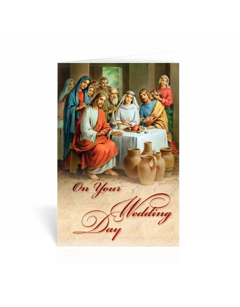 "WJ Hirten ""On Your Wedding Day"" Wedding at Cana Greeting Card"
