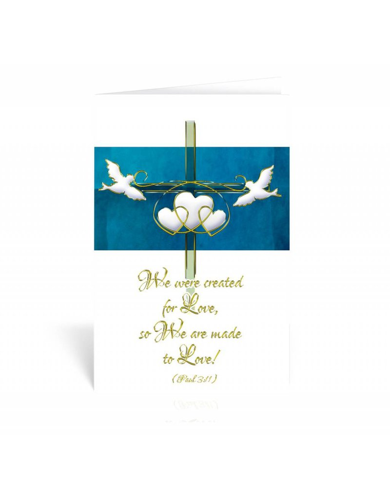 """WJ Hirten """"Therefore what God has joined together..."""" Mark 10:9 Wedding Greeting Card"""