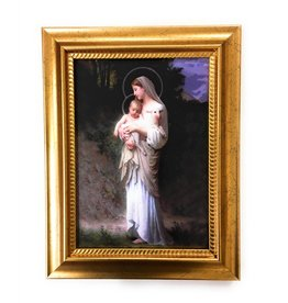 "WJ Hirten 5"" x 7"" Divine Innocence in Golden Frame"
