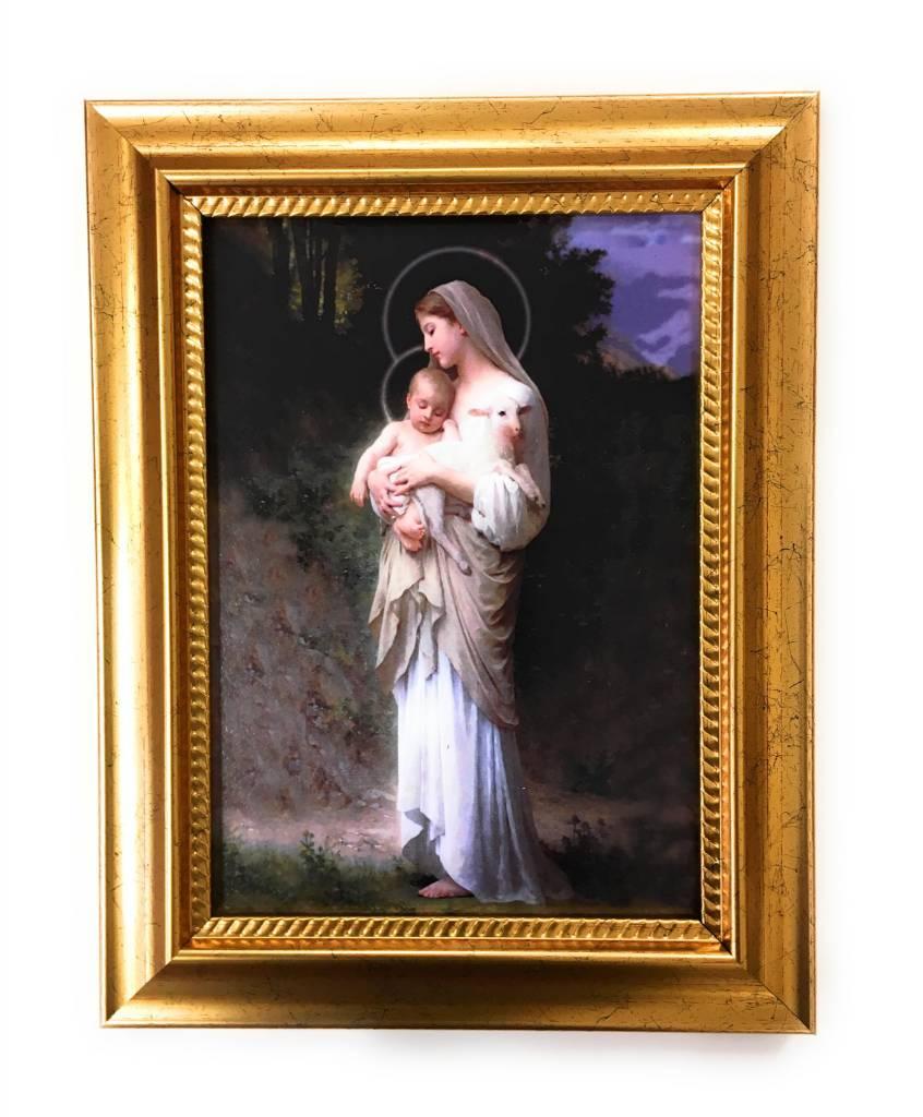 """WJ Hirten 5"""" x 7"""" Divine Innocence in Golden Frame"""