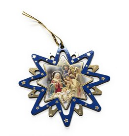 "WJ Hirten 4"" Pierced Star Nativity Ornament (Single Ornament, Assorted Style)"