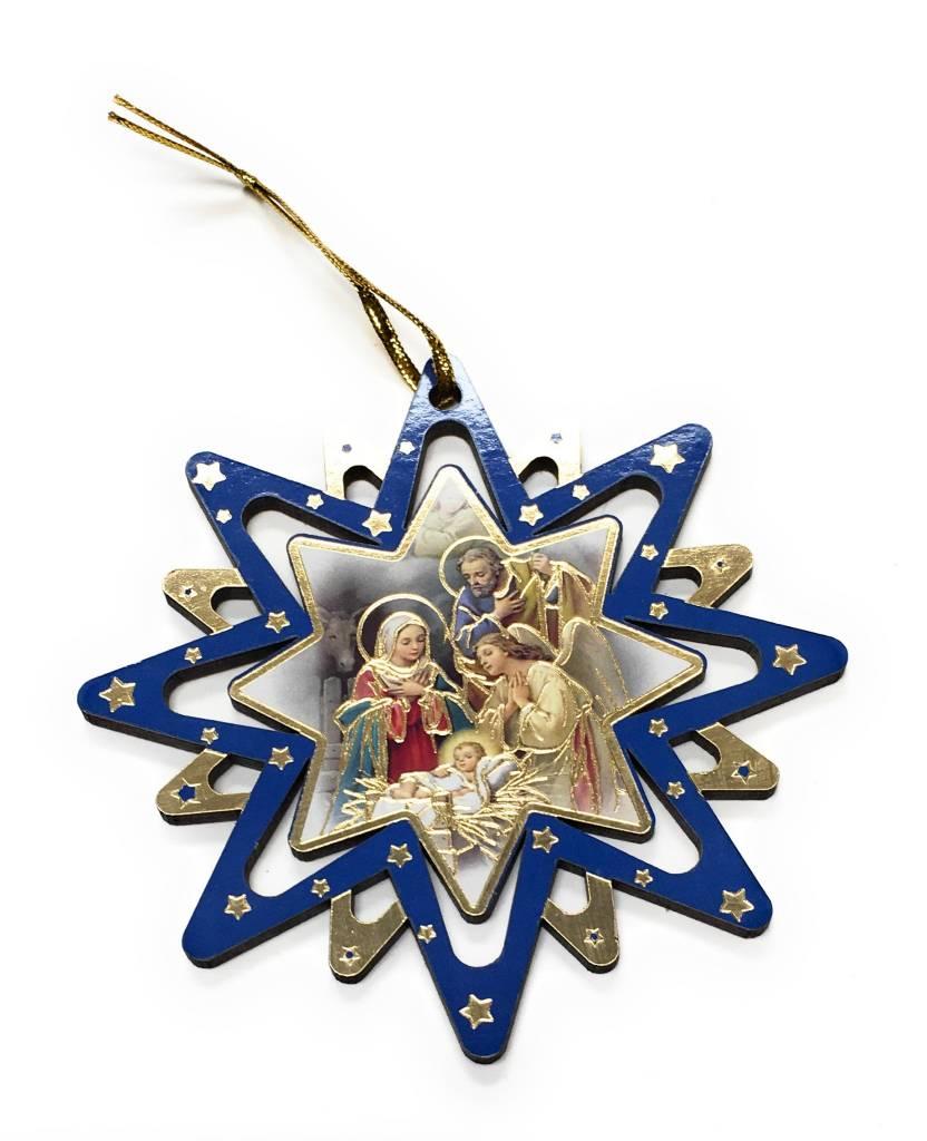 "WJ Hirten 4"" Pierced Star Nativity Ornament (Single Ornament, Assorted Style)"