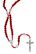 McVan Red Wood Cord Holy Spirit Rosary