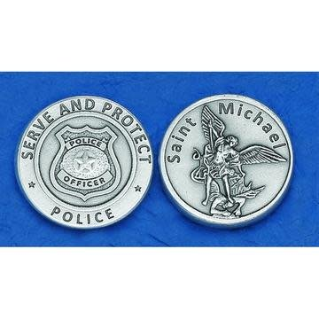 Lumen Mundi St. Michael Police Prayer Pocket Token