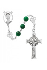 McVan 8mm Imitation Jade Celtic Rosary