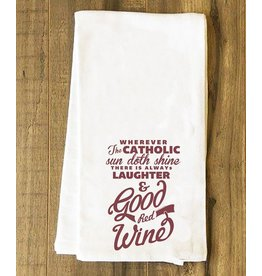 Nelson Fine Art Wherever the Catholic Sun Doth Shine Tea Towel