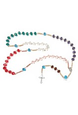Jennifer Rosary 2ft 6in, Multi-Color Glass Beads 12.7mm