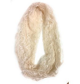 Beatrice Couture Hand-made Chantilly Lace Veil Infinity Scarf