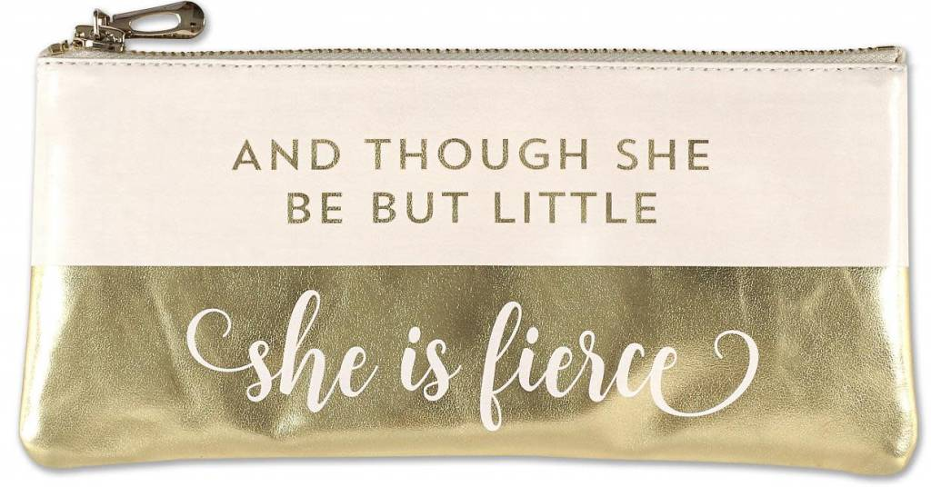 """Peter Pauper Press """"Although She Be But Little She is Fierce"""" Pencil Holder"""