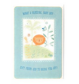 DaySpring What A Blessing Baby Boy Congratulations Card