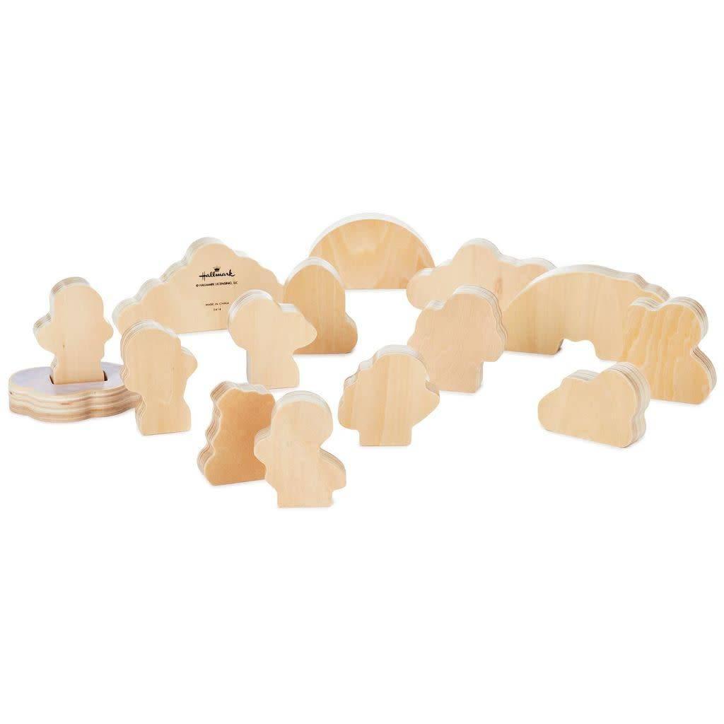 Hallmark Mary's Angels Wood Play Set, 15 pieces