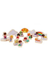 Hallmark Mary's Angels Wood Play Set, 15 pieces