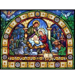 Vermont Christmas Company Stained Glass Holy Night Christmas Jigsaw Puzzle