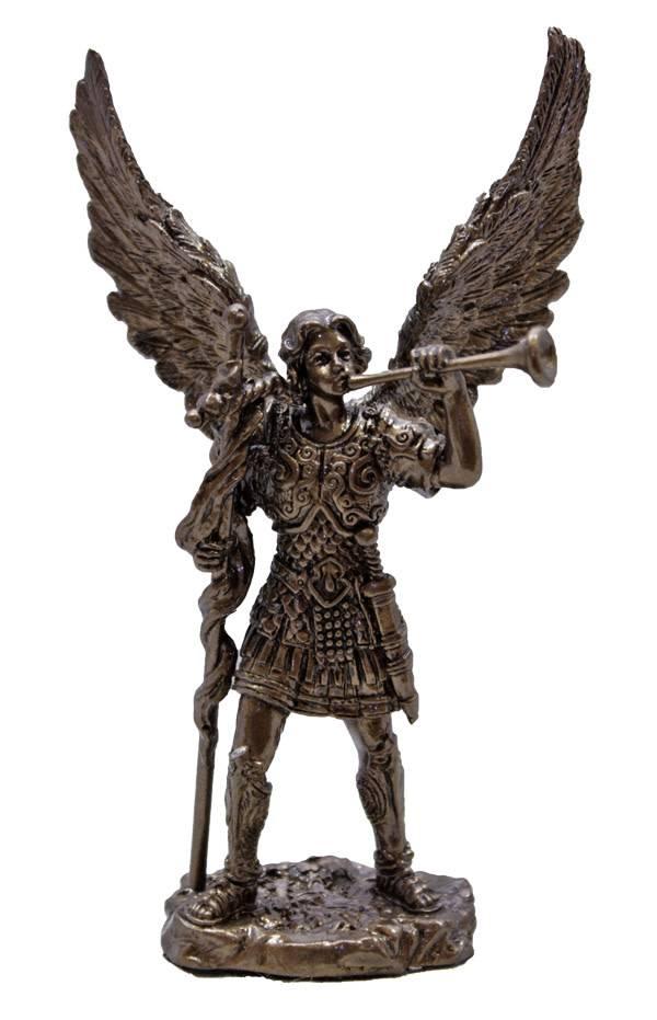 Goldscheider of Vienna Archangel Gabriel Statue in Cold Cast Bronze 4 Inches