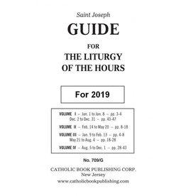 Catholic Book Publishing Corp 2019 Saint Joseph Guide for Liturgy of the Hours (4 Volume)