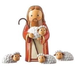 Little Drops of Water Little Drops Of Water: Good Shepherd And Sheep Statue