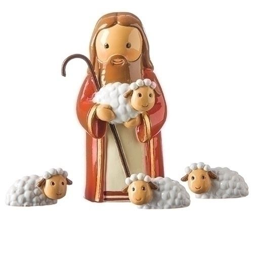 Little Drops of Water Little Drops Of Water: Good Shepherd And Sheep Statue
