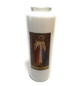 Divine Mercy 6-day Glass Candle