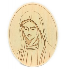 ABCatholic Wooden Laser Cut Mary Magnets