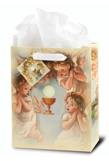 WJ Hirten Holy Communion with Angels Gift Bag Medium