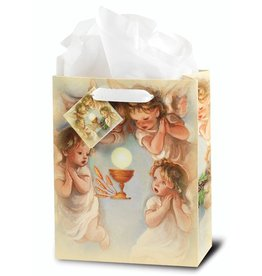 WJ Hirten Holy Communion with Angels Gift Bag Medium