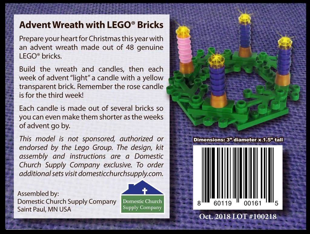Domestic Church Supply Company Advent Wreath with LEGO® Bricks