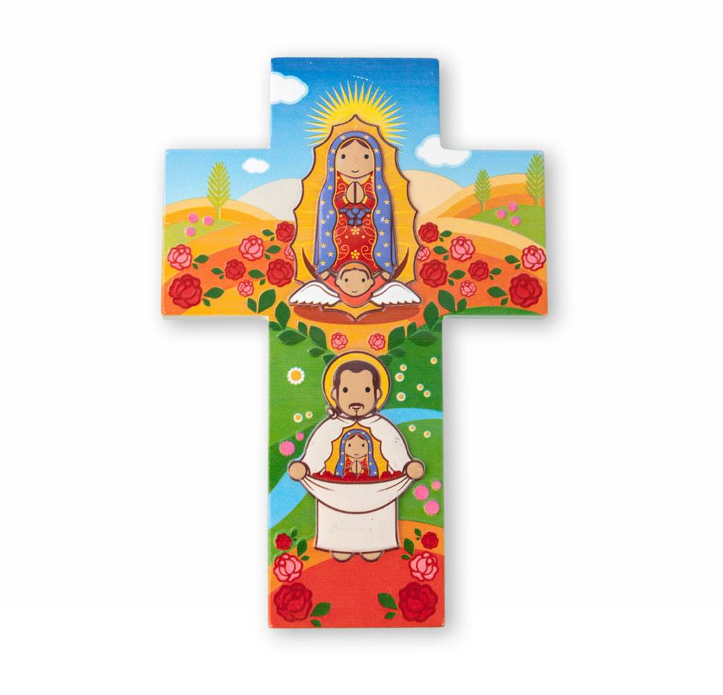 Little Drops of Water Childrens Wall Cross Our Lady of Guadalupe 3D