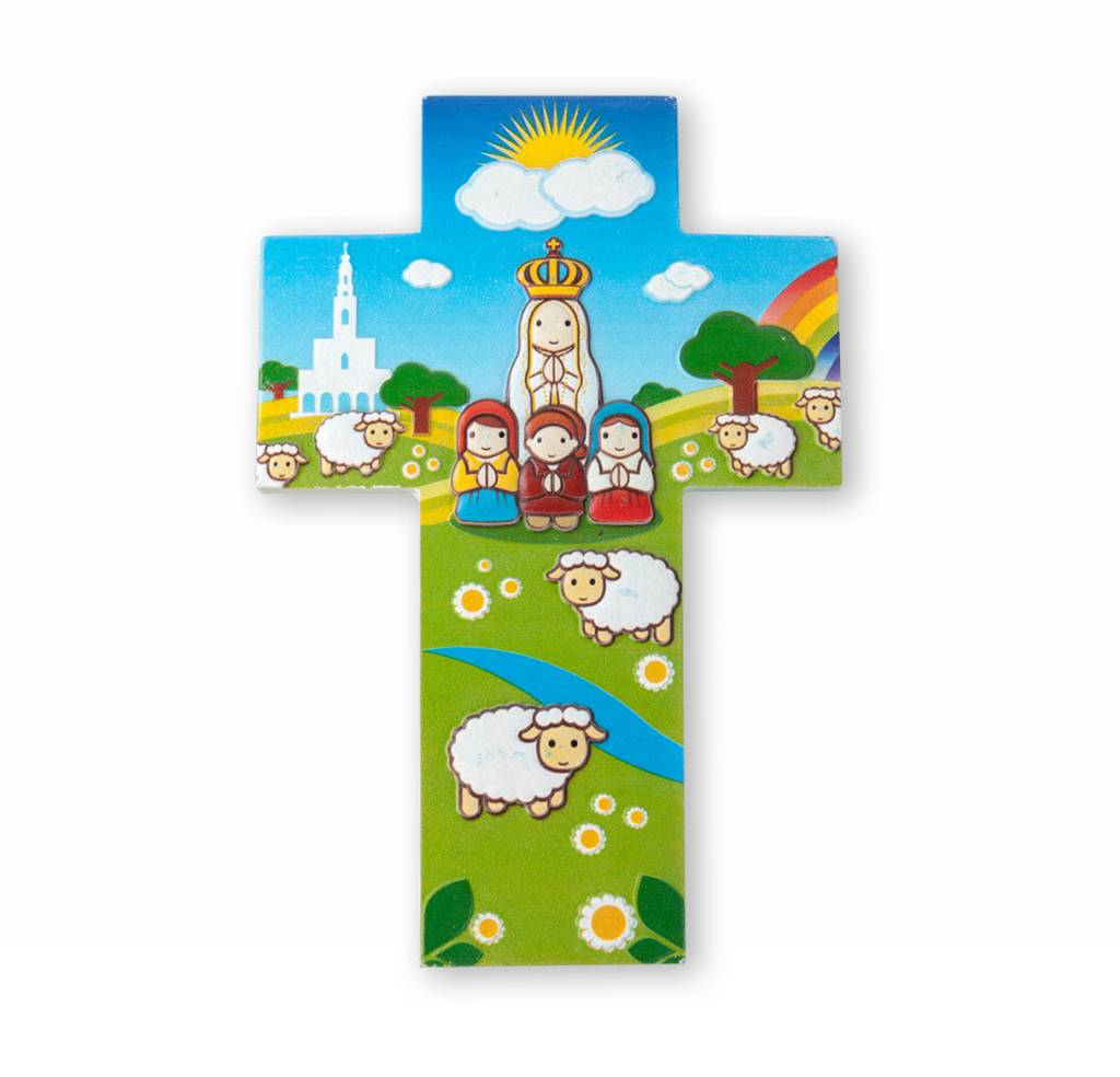 Little Drops of Water Childrens Wall Cross Our Lady of Fatima 3D