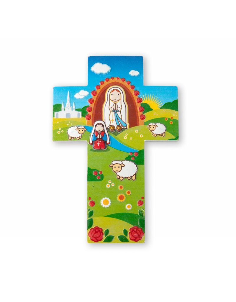 Little Drops of Water Childrens Wall Cross Our Lady of Lourdes 3D