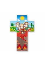 Little Drops of Water Childrens Wall Cross Archangels Michael Gabriel Raphael 3D