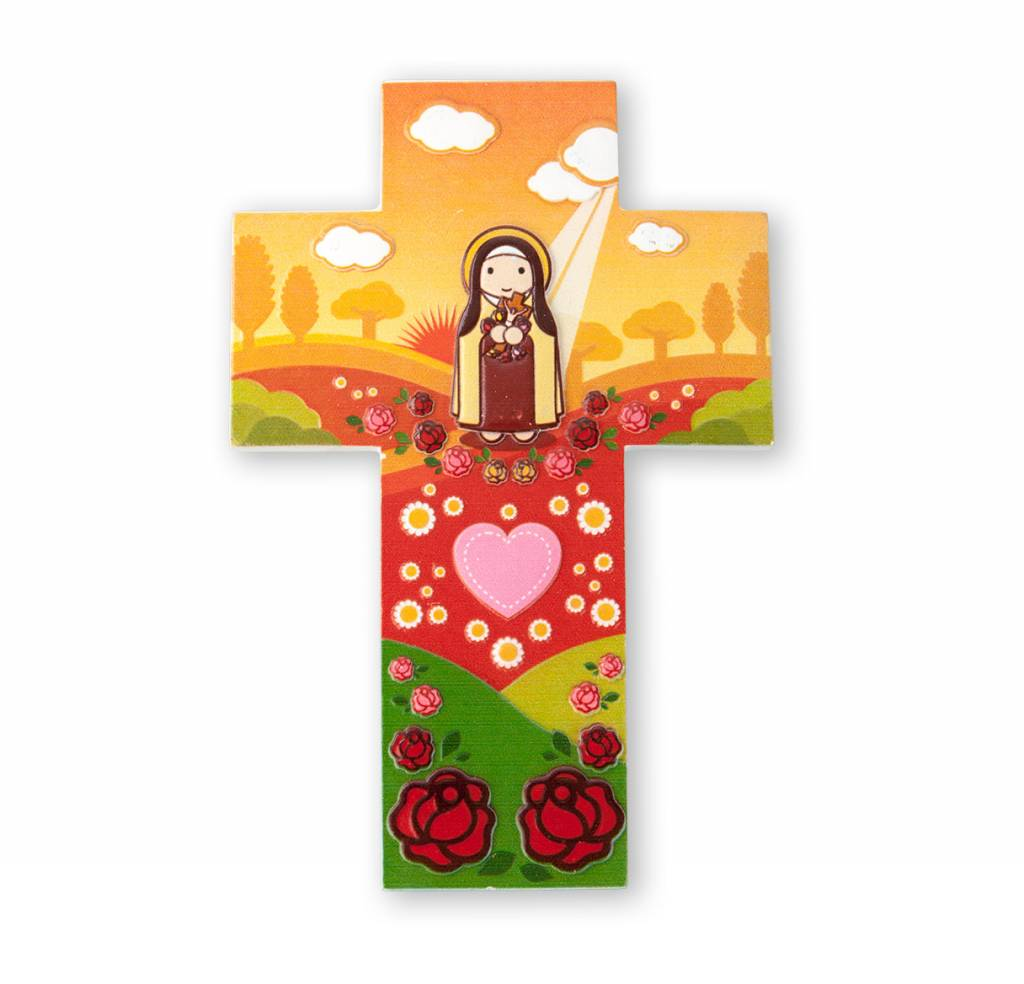 Little Drops of Water Childrens Wall Cross St. Therese The Little Flower 3D