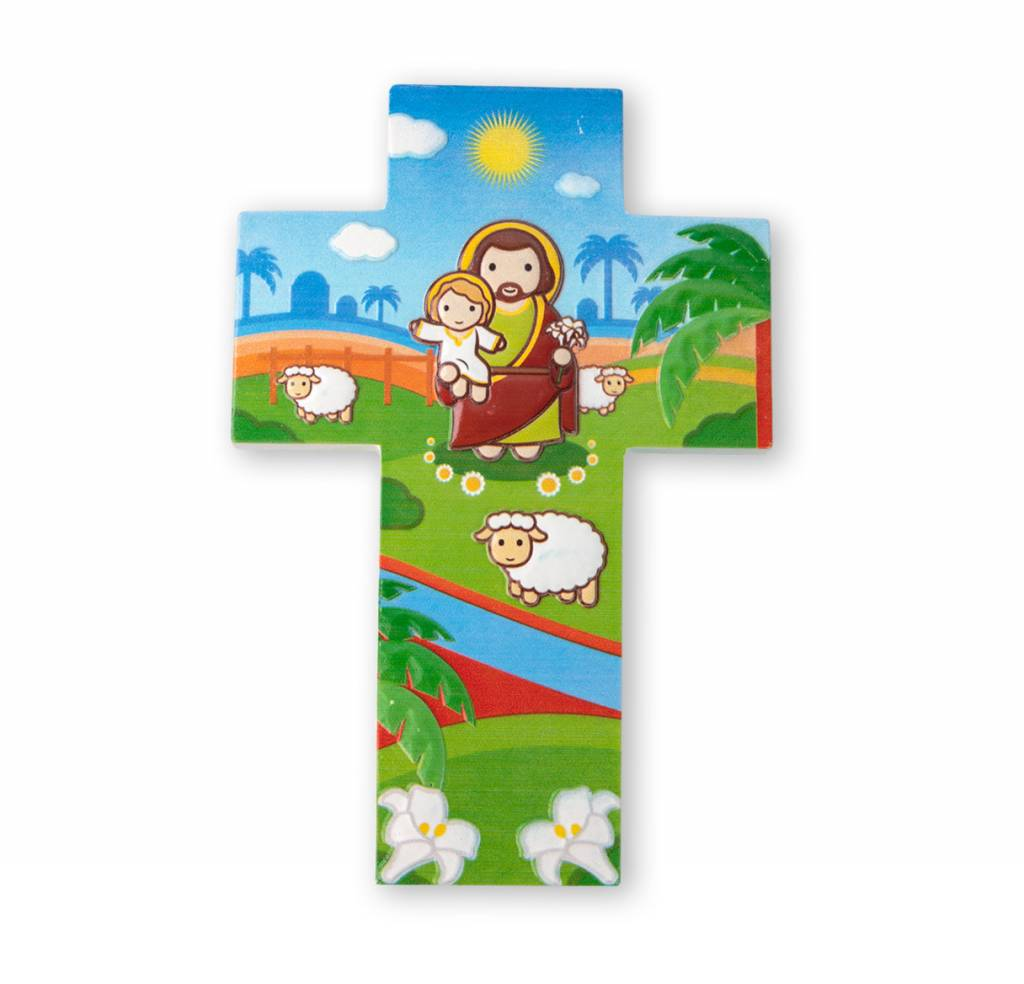 Little Drops of Water Childrens Wall Cross St. Joseph 3D
