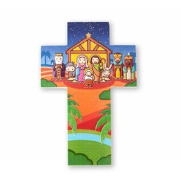 Little Drops of Water Childrens Wall Cross Christmas Nativity 3D