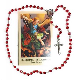 Wallace Brothers Manufacturing St. Michael Photo Rosary with Large Prayer Card
