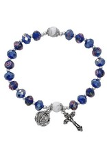 McVan Blue Flower Crystal Stretch Bracelet