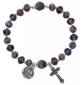 McVan Amethyst Flower Crystal Stretch Bracelet