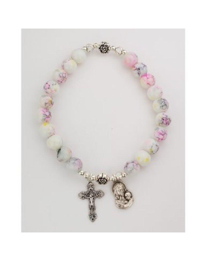 McVan Pink & Yellow Marbeline Stretch Bracelet