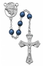 McVan 7mm Blue Metallic Rosary
