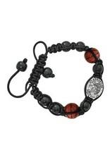 McVan Black Saint Sebastian Basketball Bracelet
