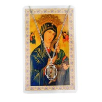 McVan Our Lady of Perpetual Help Pendant with Prayer Card