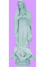 """Space Age Plastics Our Lady of Guadalupe 24"""" Granite Finish Outdoor Statue"""