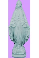"""Space Age Plastics Our Lady of Grace Granite Finish Outdoor Statue 24"""""""
