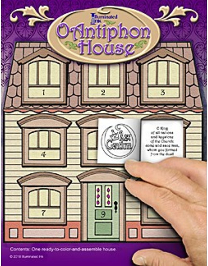 Illuminated Ink O Antiphon Color and Assemble Paper House