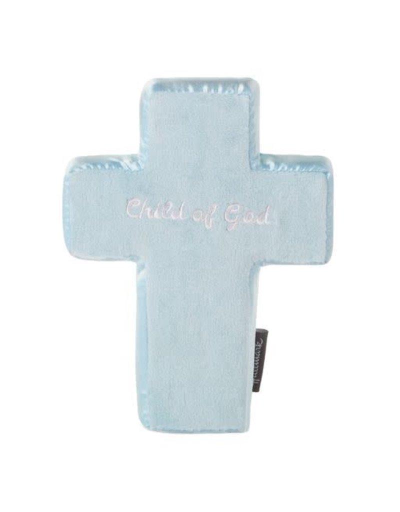 Hallmark Blue Plush Comfort Cross