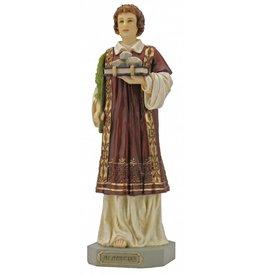 """Goldscheider of Vienna 9"""" St. Stephen Statue, Hand Painted"""