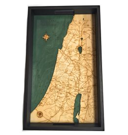 """Wood Chart Holy Land In The Time of Christ Engraved Serving Tray 16"""" x 20"""""""